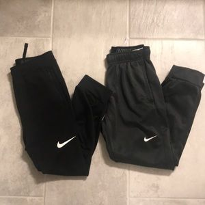 Two pairs Nike youth joggers